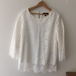 NWOT Banana republic lace blouse